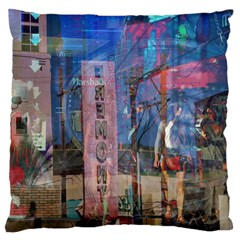 Las Vegas Strip Walking Tour Large Cushion Case (two Sides) by CrypticFragmentsDesign