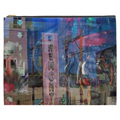 Las Vegas Strip Walking Tour Cosmetic Bag (xxxl)  by CrypticFragmentsDesign