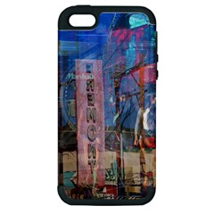 Las Vegas Strip Walking Tour Apple Iphone 5 Hardshell Case (pc+silicone) by CrypticFragmentsDesign