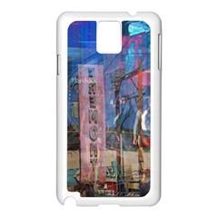 Las Vegas Strip Walking Tour Samsung Galaxy Note 3 N9005 Case (white) by CrypticFragmentsDesign