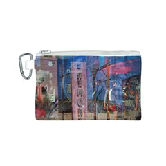 Las Vegas Strip Walking Tour Canvas Cosmetic Bag (S) by CrypticFragmentsDesign