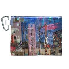 Las Vegas Strip Walking Tour Canvas Cosmetic Bag (xl)  by CrypticFragmentsDesign