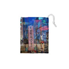 Las Vegas Strip Walking Tour Drawstring Pouches (xs)  by CrypticFragmentsDesign