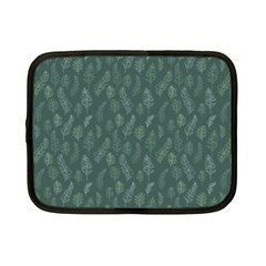Whimsical Feather Pattern, Forest Green Netbook Case (small) by Zandiepants
