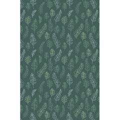 Whimsical Feather Pattern, Forest Green 5 5  X 8 5  Notebook by Zandiepants