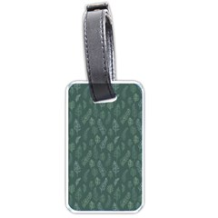 Whimsical Feather Pattern, Forest Green Luggage Tag (two Sides) by Zandiepants