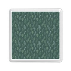 Whimsical Feather Pattern, Forest Green Memory Card Reader (square) by Zandiepants