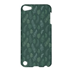 Whimsical Feather Pattern, Forest Green Apple Ipod Touch 5 Hardshell Case by Zandiepants