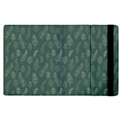 Whimsical Feather Pattern, Forest Green Apple Ipad 2 Flip Case by Zandiepants
