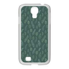Solid Black Samsung Galaxy S4 I9500/ I9505 Case (white) by Zandiepants