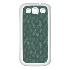 Solid Black Samsung Galaxy S3 Back Case (white) by Zandiepants