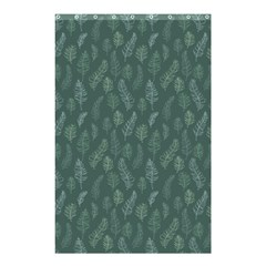 Whimsical Feather Pattern, Forest Green Shower Curtain 48  X 72  (small) by Zandiepants