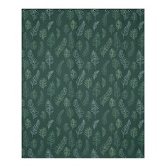 Whimsical Feather Pattern, Forest Green Shower Curtain 60  X 72  (medium) by Zandiepants