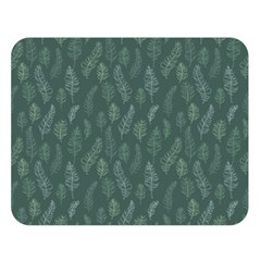 Whimsical Feather Pattern, Forest Green Double Sided Flano Blanket (large) by Zandiepants