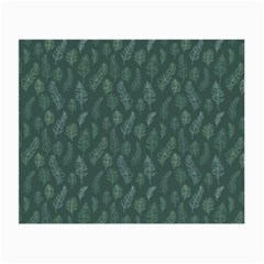 Whimsical Feather Pattern, Forest Green Small Glasses Cloth (2 Sides) by Zandiepants