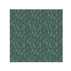 Whimsical Feather Pattern, Forest Green Small Satin Scarf (square) by Zandiepants
