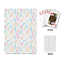 Whimsical Feather Pattern,fresh Colors, Playing Cards Single Design by Zandiepants