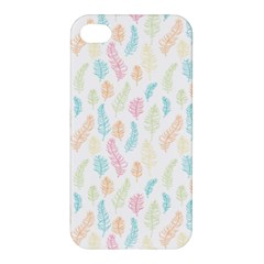 Whimsical Feather Pattern,fresh Colors, Apple Iphone 4/4s Premium Hardshell Case by Zandiepants
