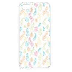 Whimsical Feather Pattern,fresh Colors, Apple Iphone 5 Seamless Case (white) by Zandiepants