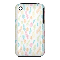 Whimsical Feather Pattern,fresh Colors, Apple Iphone 3g/3gs Hardshell Case (pc+silicone) by Zandiepants
