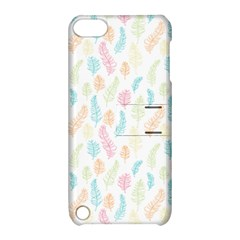 Whimsical Feather Pattern,fresh Colors, Apple Ipod Touch 5 Hardshell Case With Stand by Zandiepants