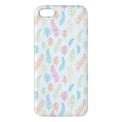 Whimsical Feather Pattern,fresh Colors, Iphone 5s/ Se Premium Hardshell Case by Zandiepants
