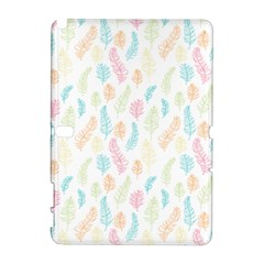 Whimsical Feather Pattern,fresh Colors, Samsung Galaxy Note 10 1 (p600) Hardshell Case by Zandiepants