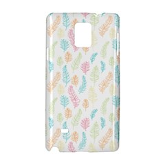 Whimsical Feather Pattern,fresh Colors, Samsung Galaxy Note 4 Hardshell Case by Zandiepants
