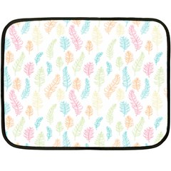 Whimsical Feather Pattern,fresh Colors, Fleece Blanket (mini) by Zandiepants