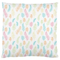 Whimsical Feather Pattern,fresh Colors, Large Cushion Case (one Side) by Zandiepants