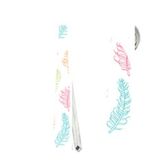Whimsical Feather Pattern,fresh Colors, Necktie (two Side) by Zandiepants