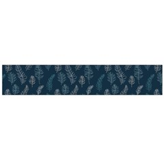 Whimsical Feather Pattern, Midnight Blue, Flano Scarf (large) by Zandiepants