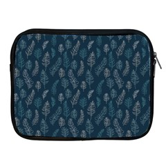 Whimsical Feather Pattern, Midnight Blue, Apple Ipad 2/3/4 Zipper Case by Zandiepants