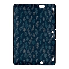 Whimsical Feather Pattern, Midnight Blue, Kindle Fire Hdx 8 9  Hardshell Case by Zandiepants