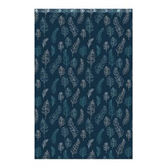Whimsical Feather Pattern, Midnight Blue, Shower Curtain 48  X 72  (small) by Zandiepants