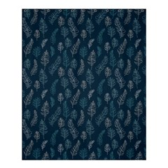 Whimsical Feather Pattern, Midnight Blue, Shower Curtain 60  X 72  (medium) by Zandiepants