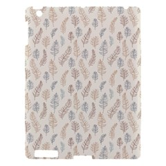 Whimsical Feather Pattern, Nature Brown, Apple Ipad 3/4 Hardshell Case by Zandiepants