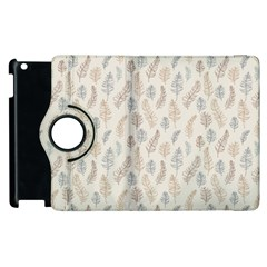Whimsical Feather Pattern, Nature Brown, Apple Ipad 2 Flip 360 Case by Zandiepants