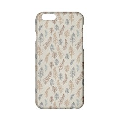 Whimsical Feather Pattern, Nature Brown, Apple Iphone 6/6s Hardshell Case by Zandiepants