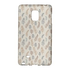 Whimsical Feather Pattern, Nature Brown, Samsung Galaxy Note Edge Hardshell Case by Zandiepants