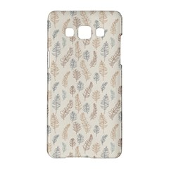 Whimsical Feather Pattern, Nature Brown, Samsung Galaxy A5 Hardshell Case  by Zandiepants