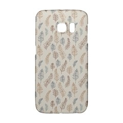 Whimsical Feather Pattern, Nature Brown, Samsung Galaxy S6 Edge Hardshell Case by Zandiepants