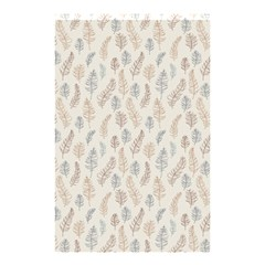 Whimsical Feather Pattern, Nature Brown, Shower Curtain 48  X 72  (small) by Zandiepants