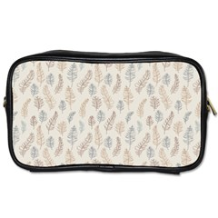 Whimsical Feather Pattern, Nature Brown, Toiletries Bag (two Sides) by Zandiepants