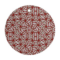 Interlace Tribal Print Ornament (round)  by dflcprints