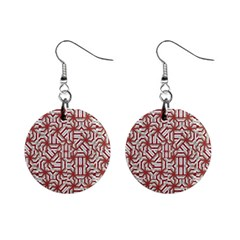 Interlace Tribal Print Mini Button Earrings by dflcprints