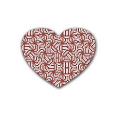 Interlace Tribal Print Heart Coaster (4 Pack)  by dflcprints