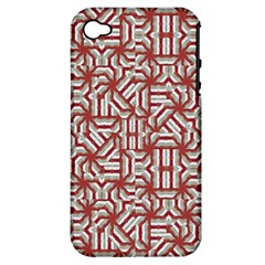 Interlace Tribal Print Apple Iphone 4/4s Hardshell Case (pc+silicone) by dflcprints