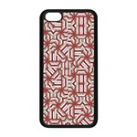 Interlace Tribal Print Apple iPhone 5C Seamless Case (Black) Front