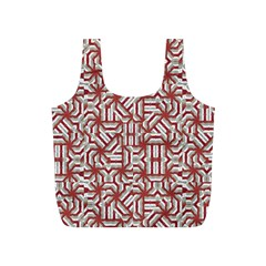 Interlace Tribal Print Full Print Recycle Bags (s)  by dflcprints